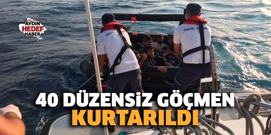 40 Düzensiz Göçmen kurtarıldı