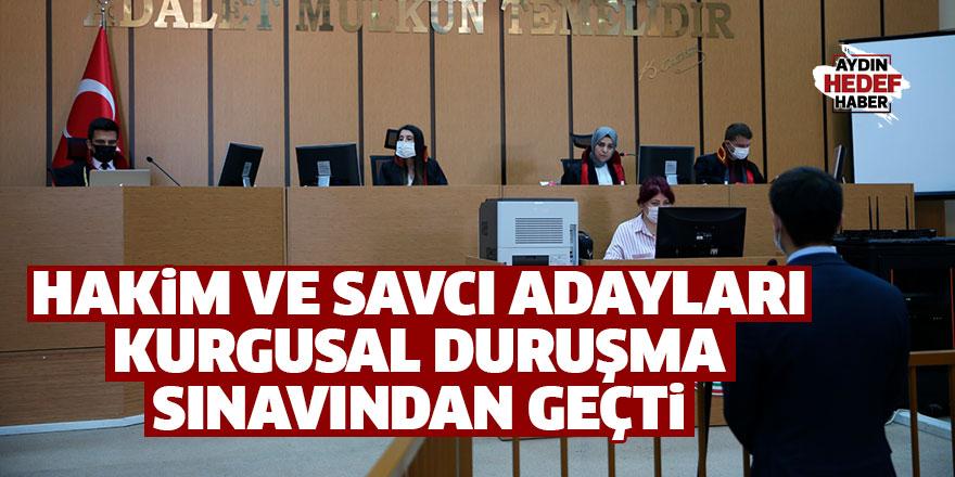 Hakim ve savcı adayları kurgusal duruşma sınavından geçti