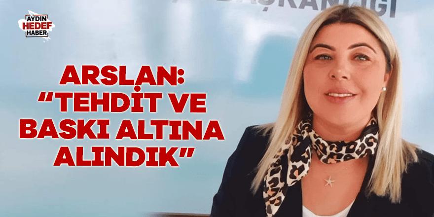 Arslan istifa sonrasında açıklama yaptı