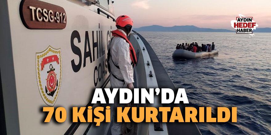 Aydın'da 70 kişi kurtarıldı