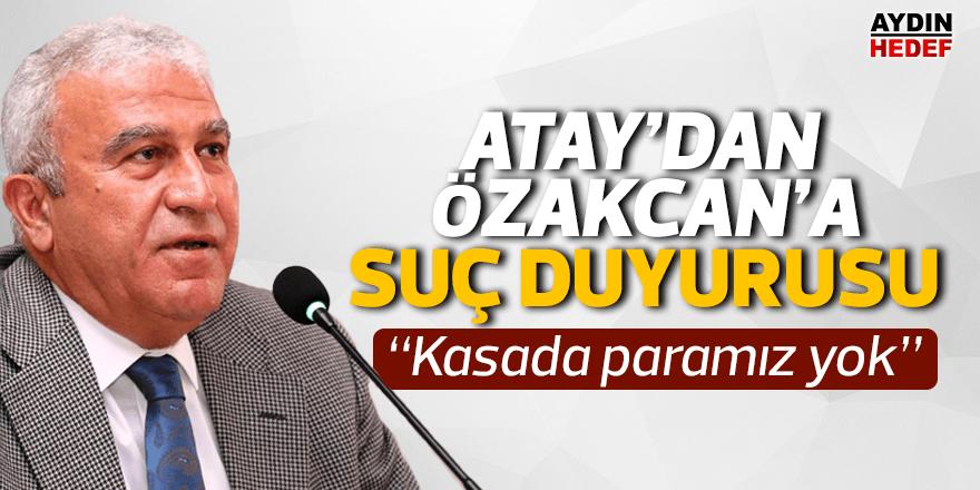 Atay'dan Özakcan'a suç duyurusu