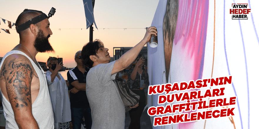 Kuşadası'nın duvarları graffitilerle renklenecek