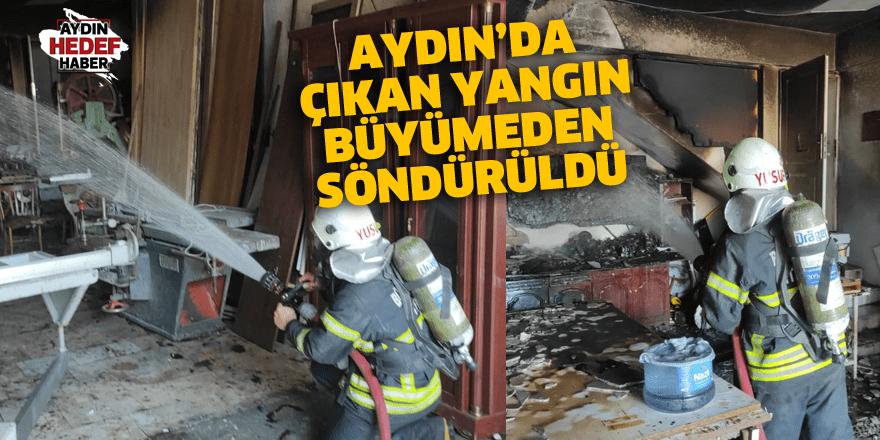 Aydın'da çıkan yangın büyümeden söndürüldü