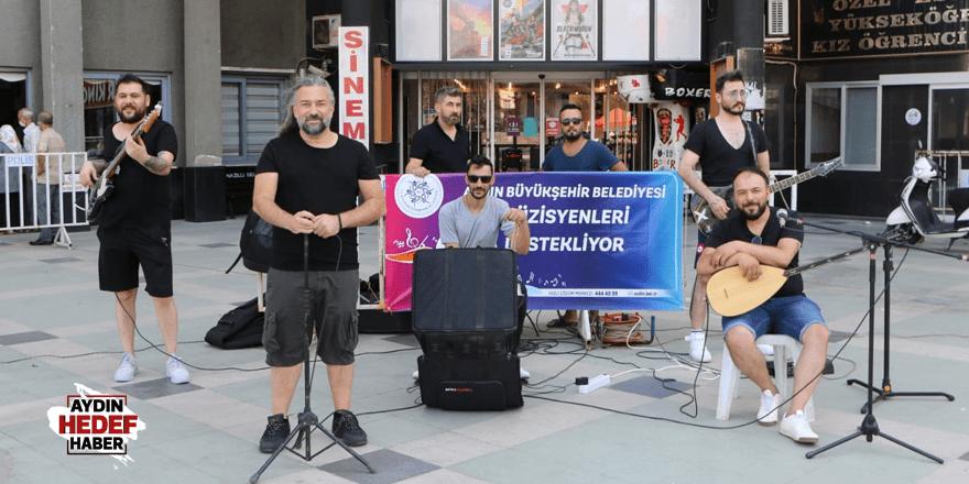 Büyükşehir'in müzisyenlere desteği devam ediyor
