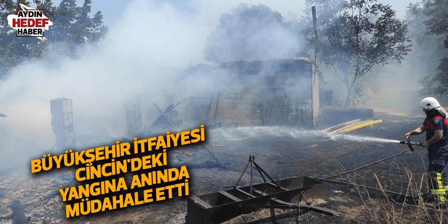 Büyükşehir İtfaiyesi Cincin'deki yangına anında müdahale etti