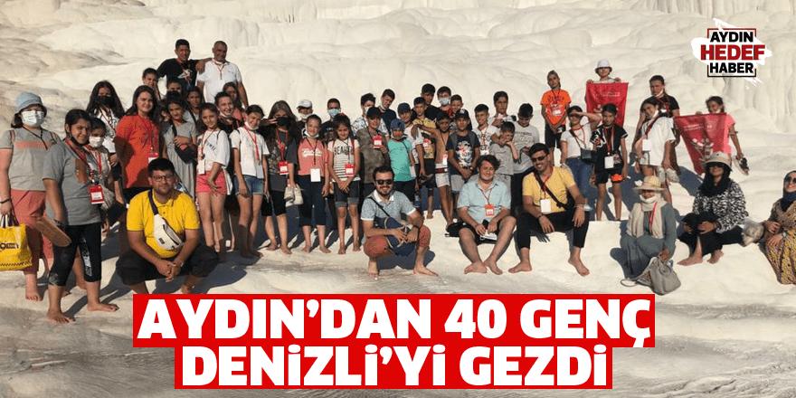 Aydın'dan 40 genç Denizli'yi gezdi