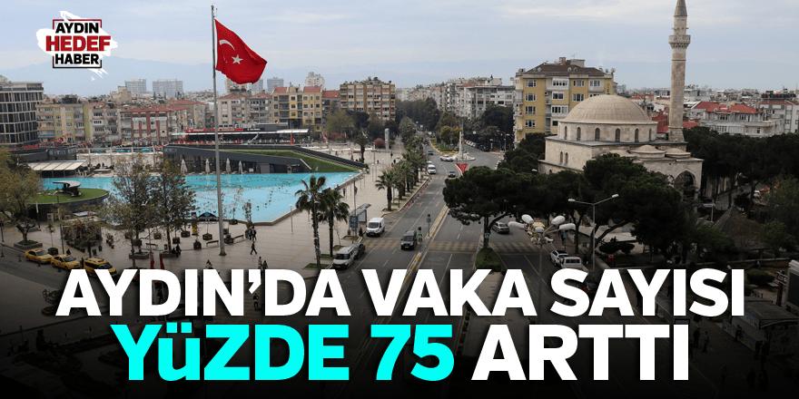 Aydın'da vaka sayısı yüzde 75 arttı