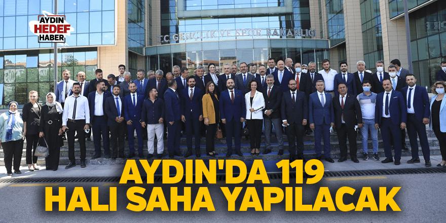 Aydın'da 119 halı saha yapılacak