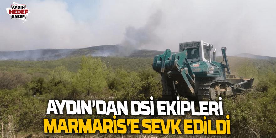 Aydın'dan DSİ ekipleri Marmaris'e sevk edildi