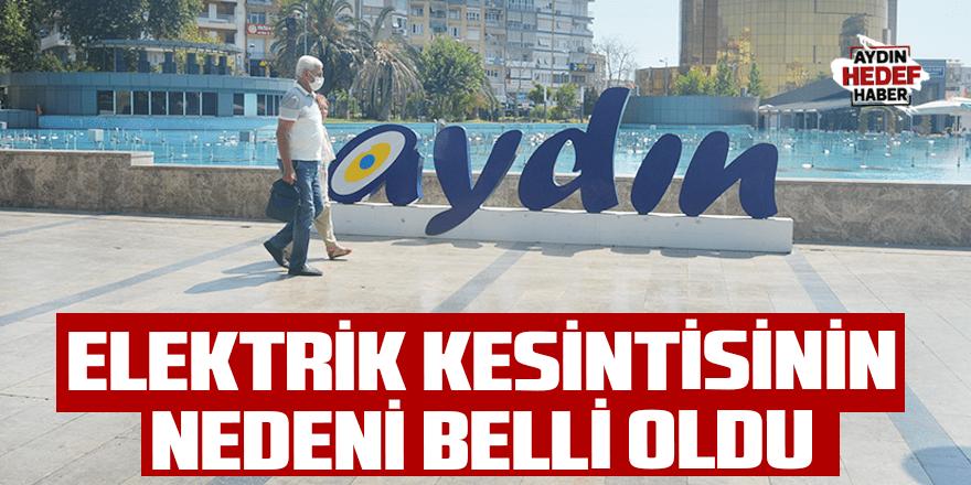 Aydın'daki elektrik kesintisinin nedeni belli oldu