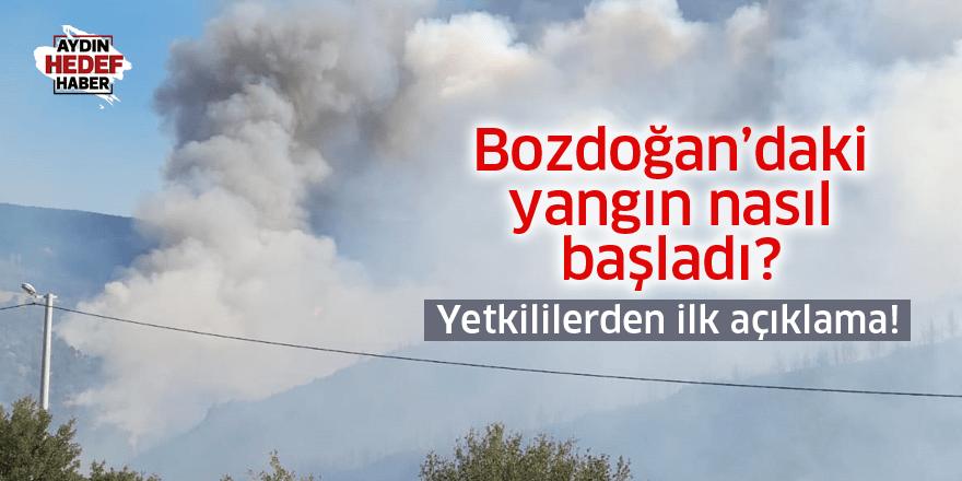 Bozdoğan'daki yangın nasıl başladı! Son durum nedir?