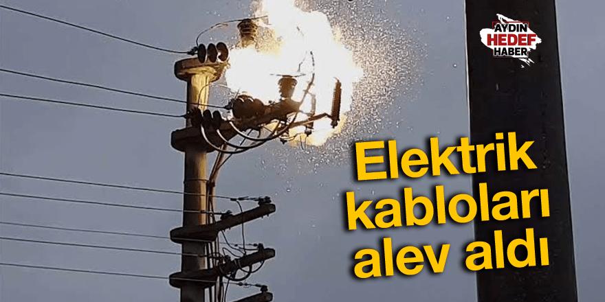 Elektrik kabloları alev aldı, mahalleli korku dolu anlar yaşadı