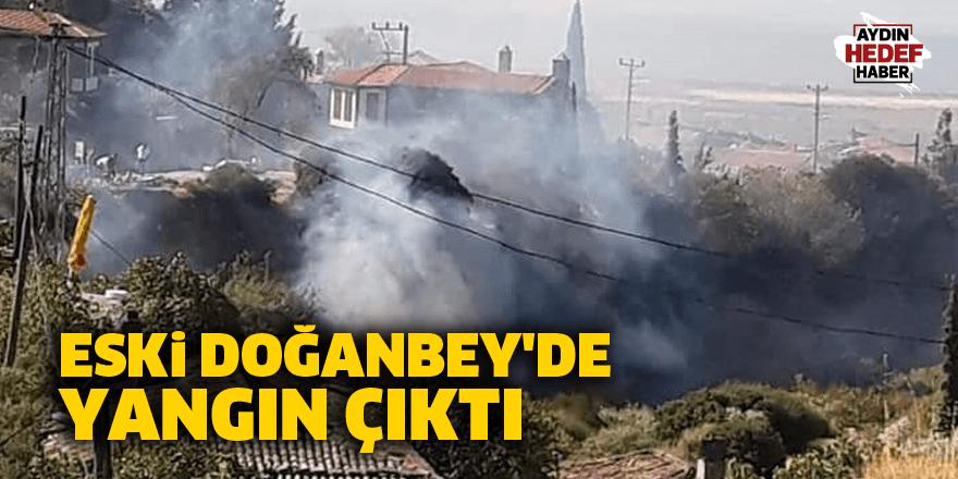 Eski Doğanbey'de yangın çıktı