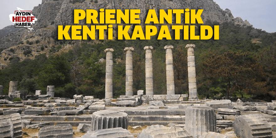 Priene Antik Kenti kapatıldı