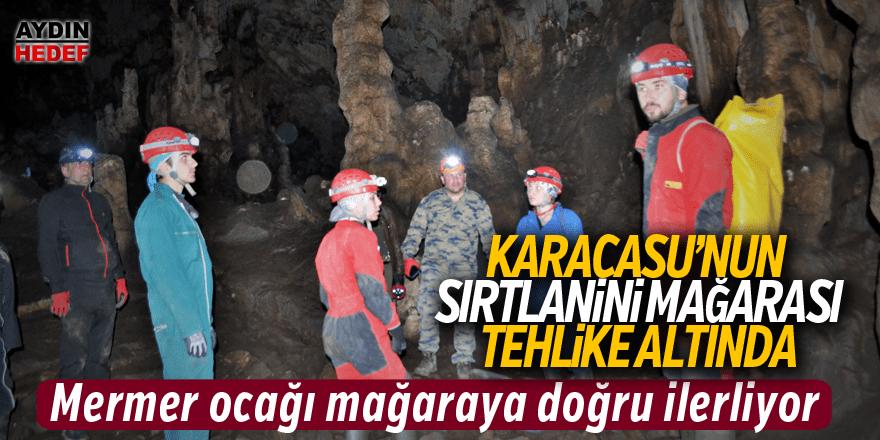 Maden ocağı mağaraya doğru ilerliyor