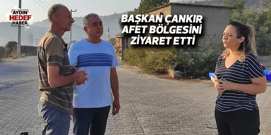 Başkan Çankır afet bölgesini ziyaret etti