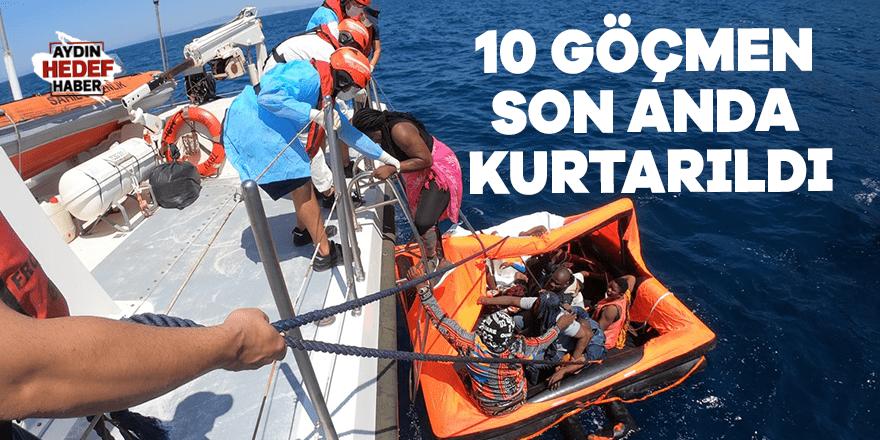 10 göçmen son anda kurtarıldı