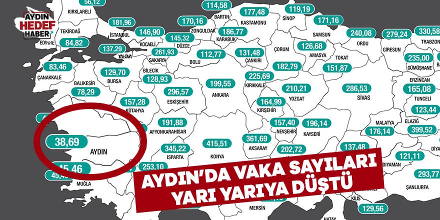 Aydın'da vaka sayıları yarı yarıya düştü