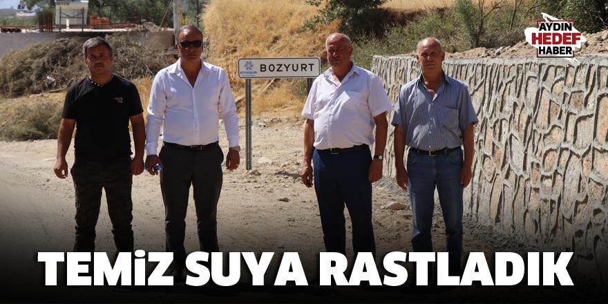 Başkan Özcan: Temiz suya rastladık