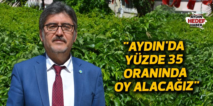 """""""Aydın'da yüzde 35 oranında oy alacağız"""""""