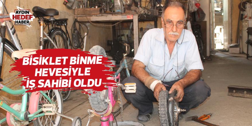 Bisiklet binme hevesiyle iş sahibi oldu
