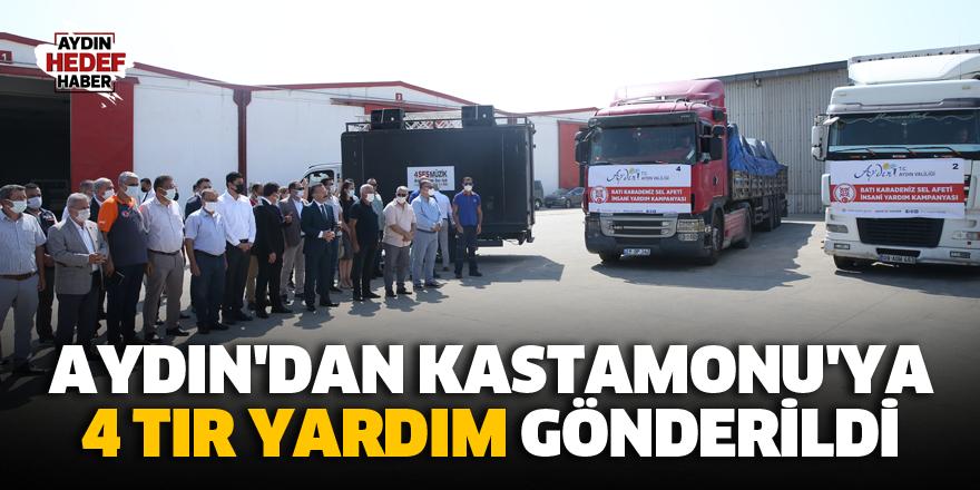 Aydın'dan Kastamonu'ya 4 Tır Yardım Gönderildi