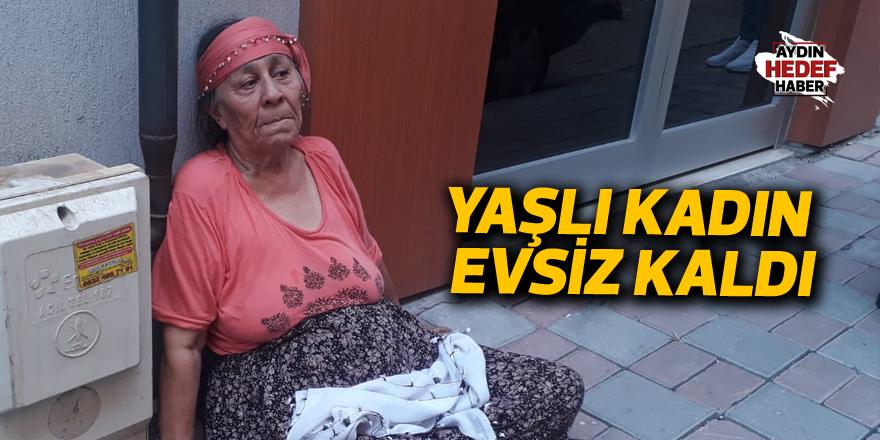 75 yaşındaki kadın evsiz kaldı