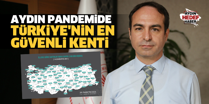 Açıkgöz:  Aydın pandemide Türkiye'nin en güvenli kenti