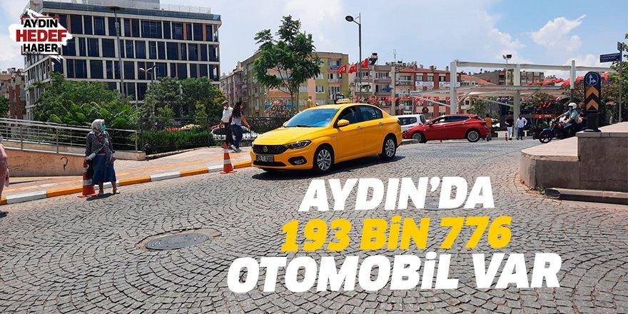Aydın'da 193 bin 776 otomobil var