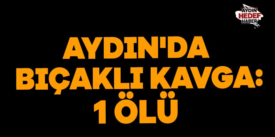 Aydın'da bıçaklı kavga: 1 ölü