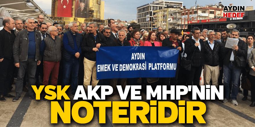 Aydın Emek ve Demokrasi Platformu kararı protesto etti