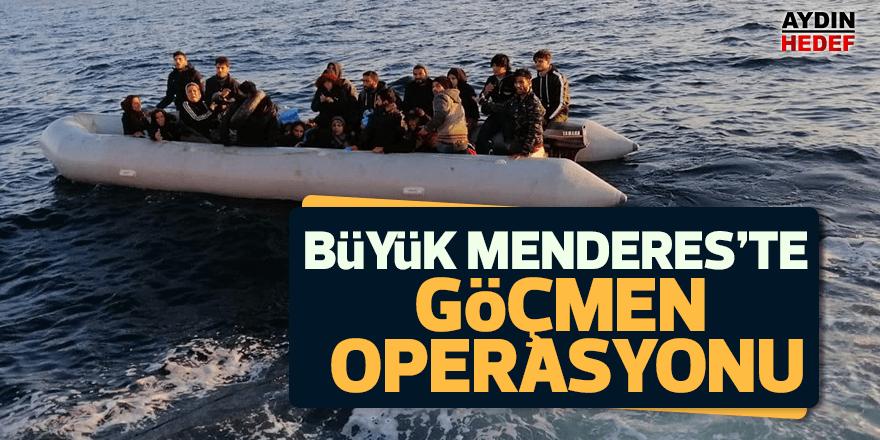 Büyük Menderes'te göçmen operasyonu