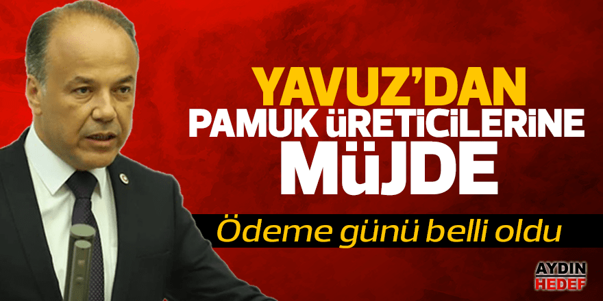 Milletvekili Yavuz'dan pamuk üreticilerine prim müjdesi