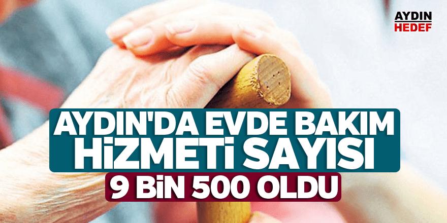 Aydın'da 9 bin 500 kişiye evde bakım hizmeti alıyor
