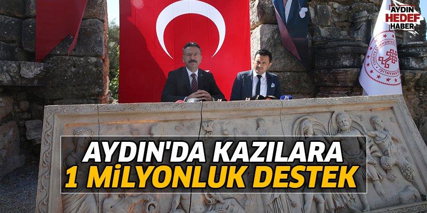 Aydın'daki kazılara 1 milyonluk destek