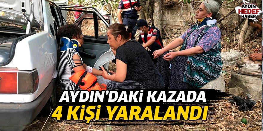 Aydın'daki kazada 4 kişi yaralandı