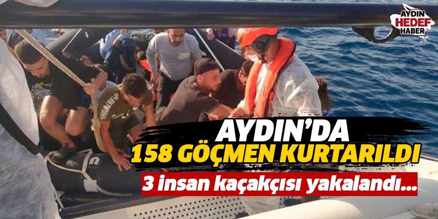 Aydın'da 158 göçmen kurtarıldı