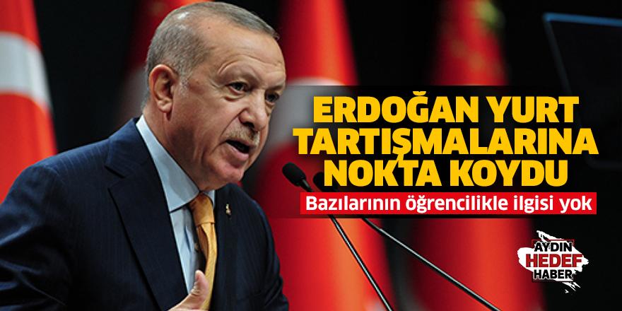 Erdoğan: Bazılarının öğrencilikle alakası yok
