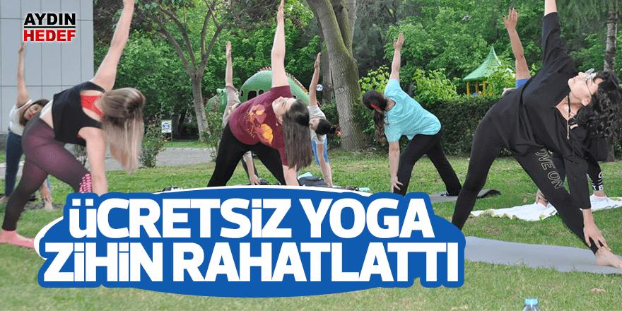 Ücretsiz yoga etkinliği ile zihinleri rahatlatıyor