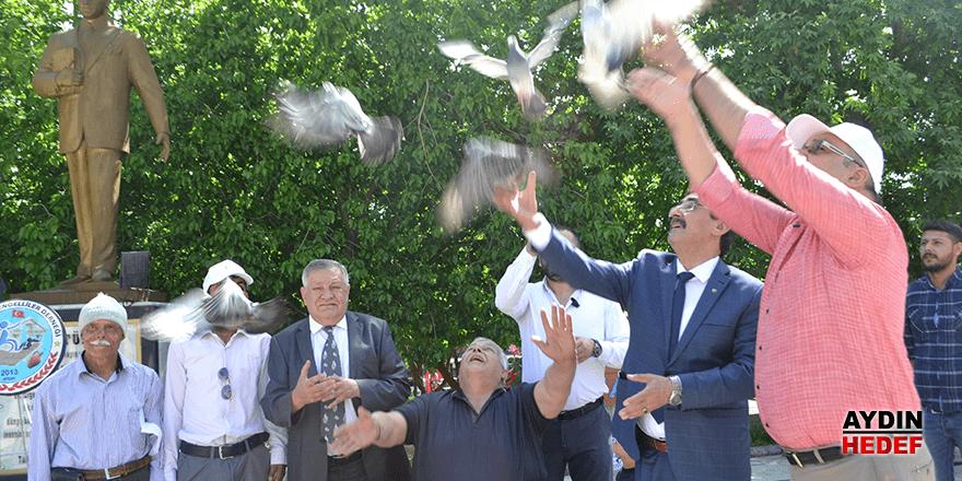 Engelsiz yaşam için güvercin uçurdular