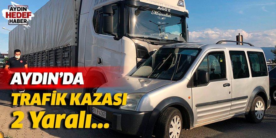 Aydın'ın Nazilli ilçesinde meydana gelen trafik kazasında 2 kişi yaralandı.