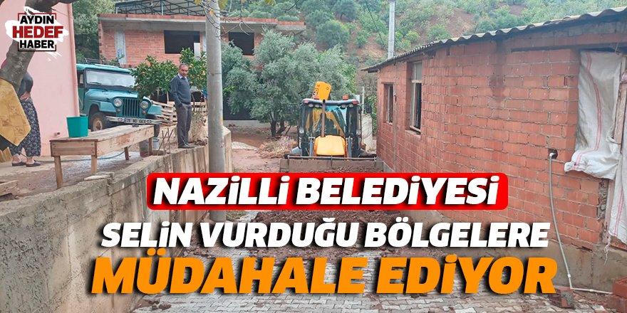 Nazilli'de selin vurduğu bölgelere müdahale ediliyor