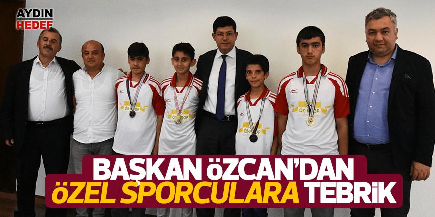 Başkan Özcan, özel sporcuları tebrik etti