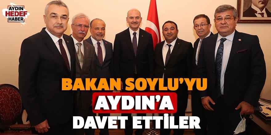 Bakan Soylu'yu Aydın'a davet ettiler