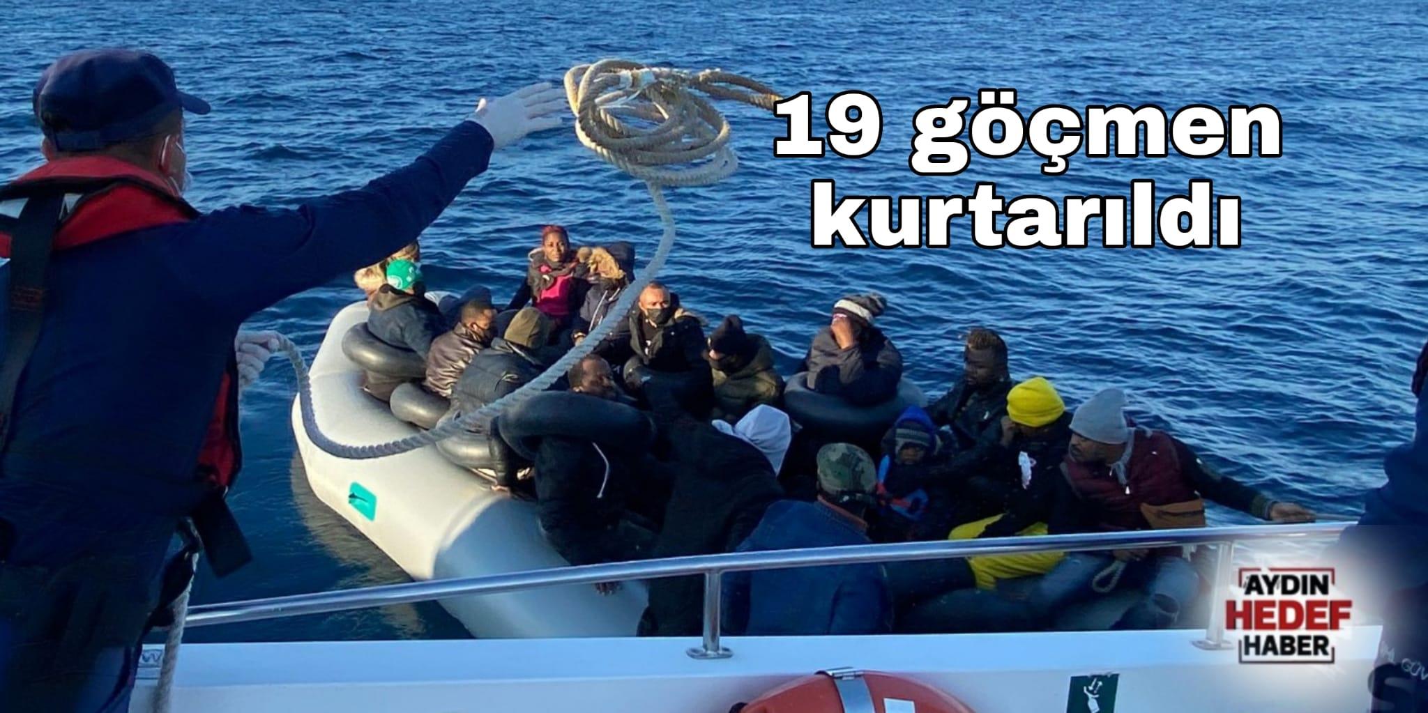 19 göçmen kurtarıldı