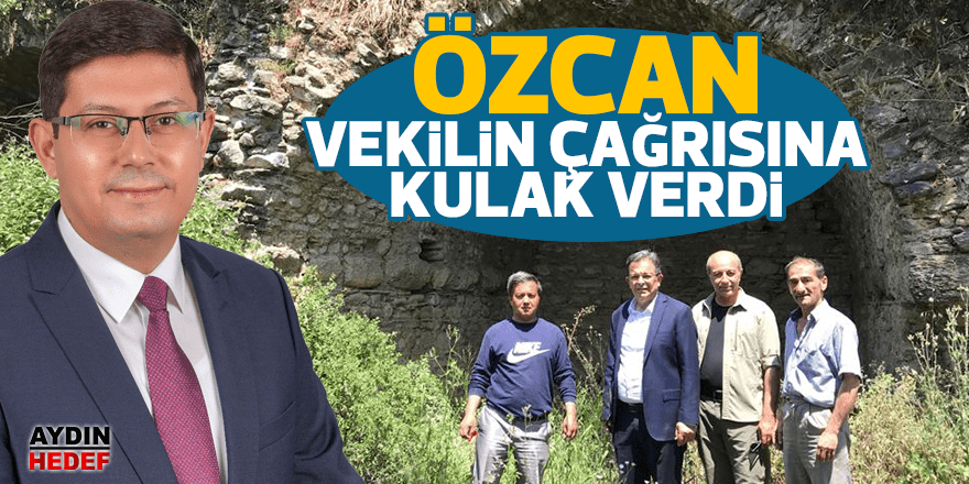 Özcan, AK Partili vekilin çağrısına kulak verdi
