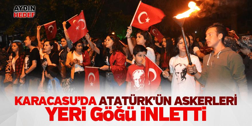 Atatürk'ün askerleri yeri göğü inletti