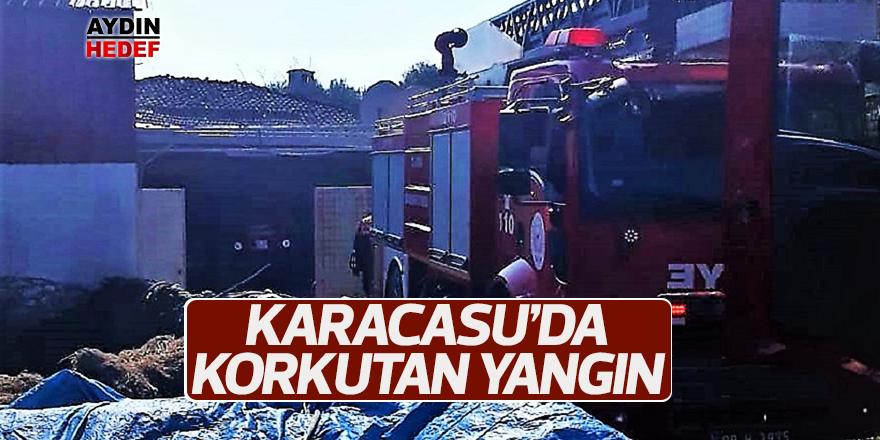 Karacasu'da baca yangını korkuttu