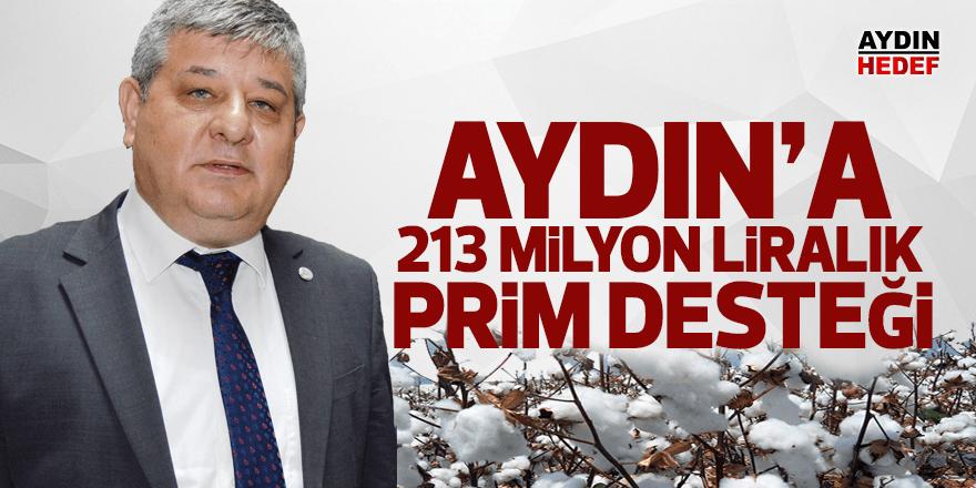 Aydın'a 213 milyon liralık prim desteği