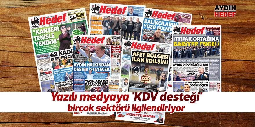 Yazılı medyaya 'KDV desteği' birçok sektörü ilgilendiriyor